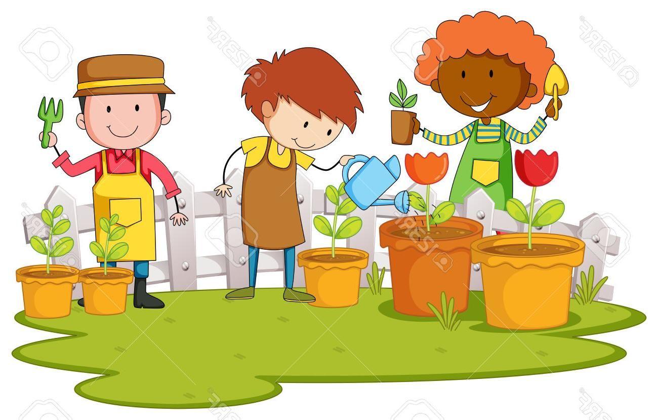 Gardener clipart boy. Best free garden plant
