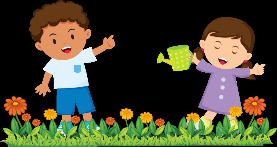Hd gardening happy children. Gardener clipart childrens garden