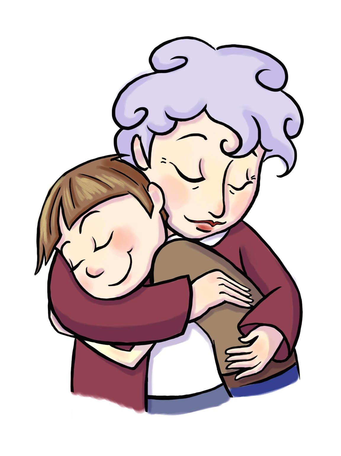 Grandma clipart. Unique grandmother gallery digital