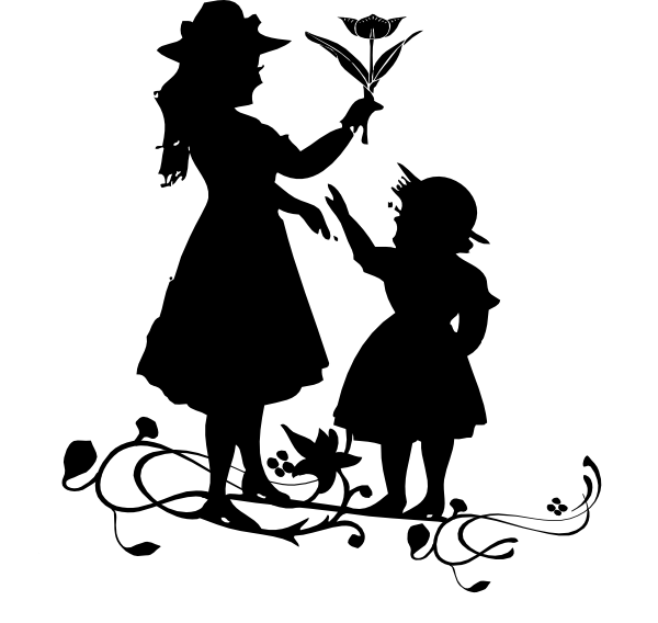 And child clip art. Gardening clipart mother