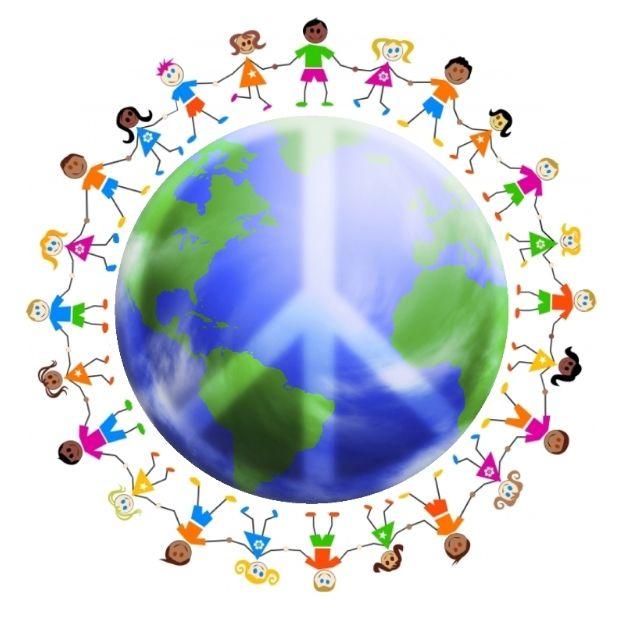 best children around. Child clipart peace