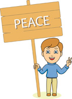 Search results for clip. Child clipart peace