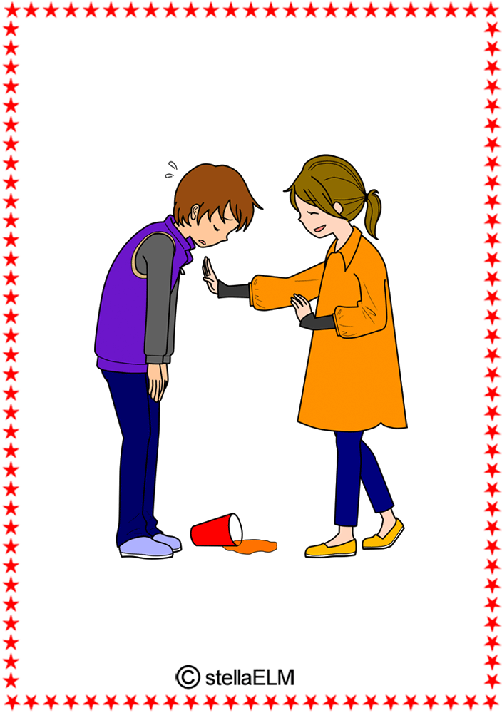 Flashcards everyday expressions im. Child clipart polite