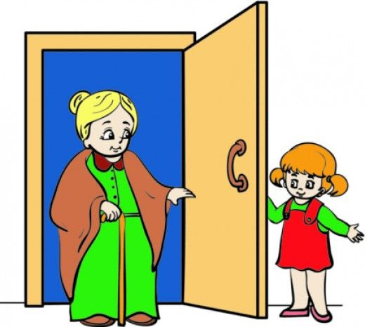 Showing respect to elders. Child clipart respectful