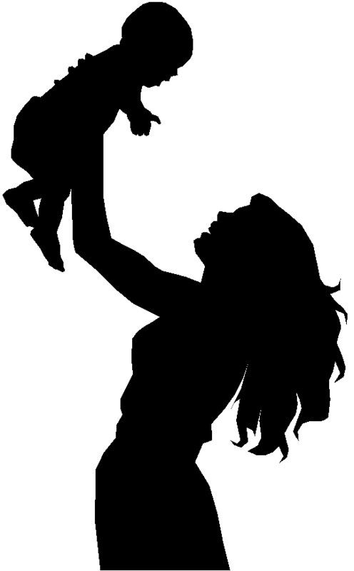 Children clipart shadow. Silhouettes art kids and