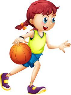 Clipart sports children's.  scrapbooking pinterest clip