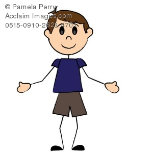 Clip art illustration of. Child clipart stick figure