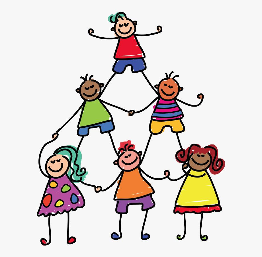 Warmth happy kid children. Clipart child teamwork