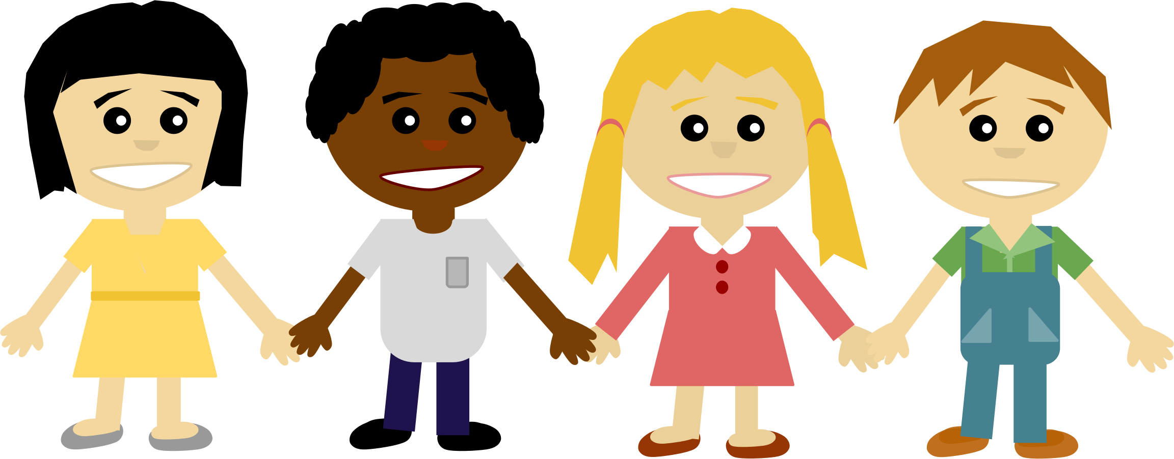 collection of kids. Friendship clipart kindergarten friend