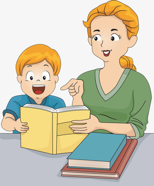 Teaching the lecture student. Children clipart tutoring
