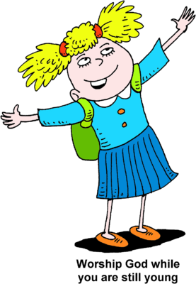 Image young girl looking. Children clipart worship