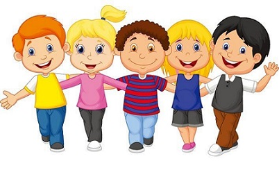 Children clipart. Free happy