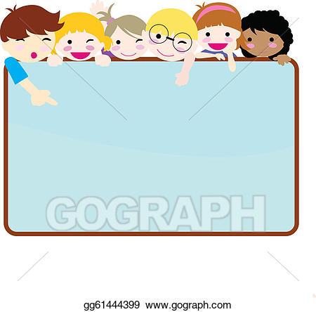 Vector illustration happy eps. Children clipart banner