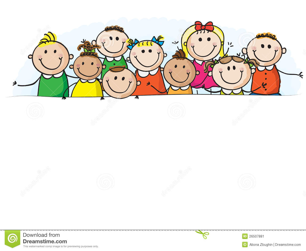 Child pencil and in. Children clipart banner