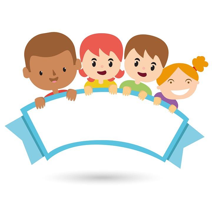 Free photo kids design. Children clipart classroom