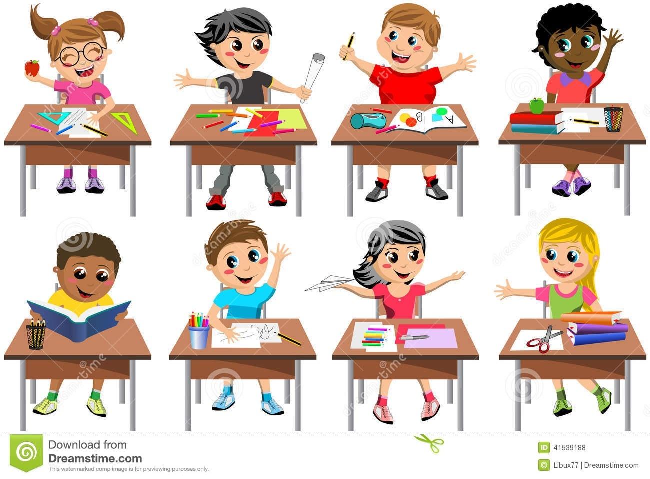 Kids in kind of. Children clipart classroom