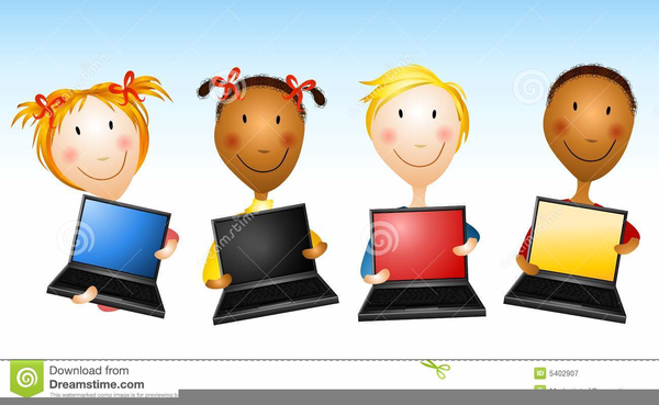 Computer Learning Cartoon Png - Free Transparent PNG Clipart Images Download