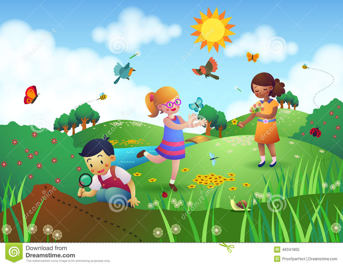 Children clipart garden. With panda free images