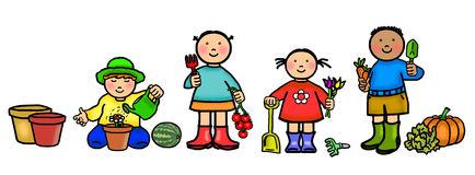Kids free download best. Gardening clipart children's