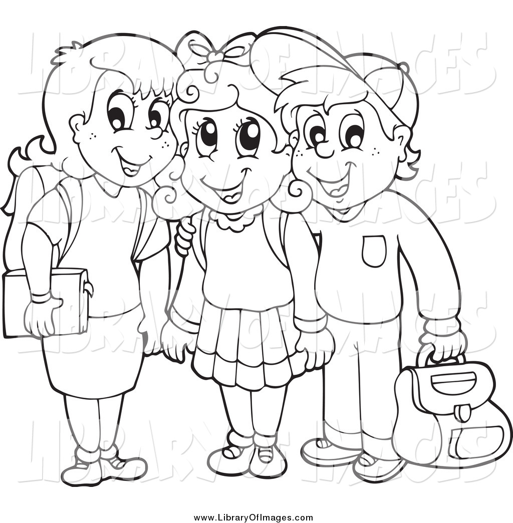 collection of drawing. Children clipart outline