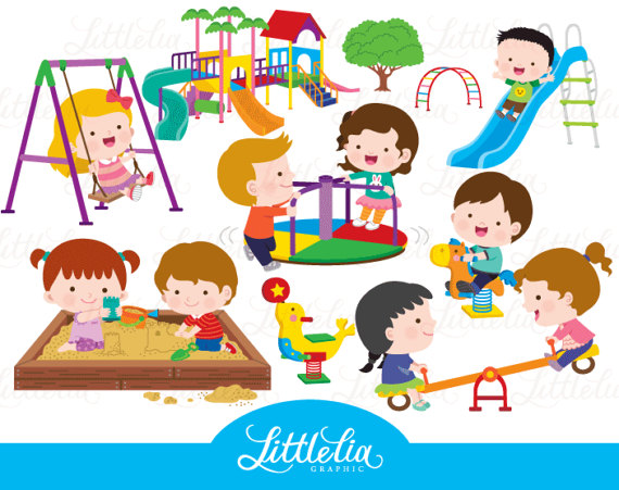 Kids . Playground clipart