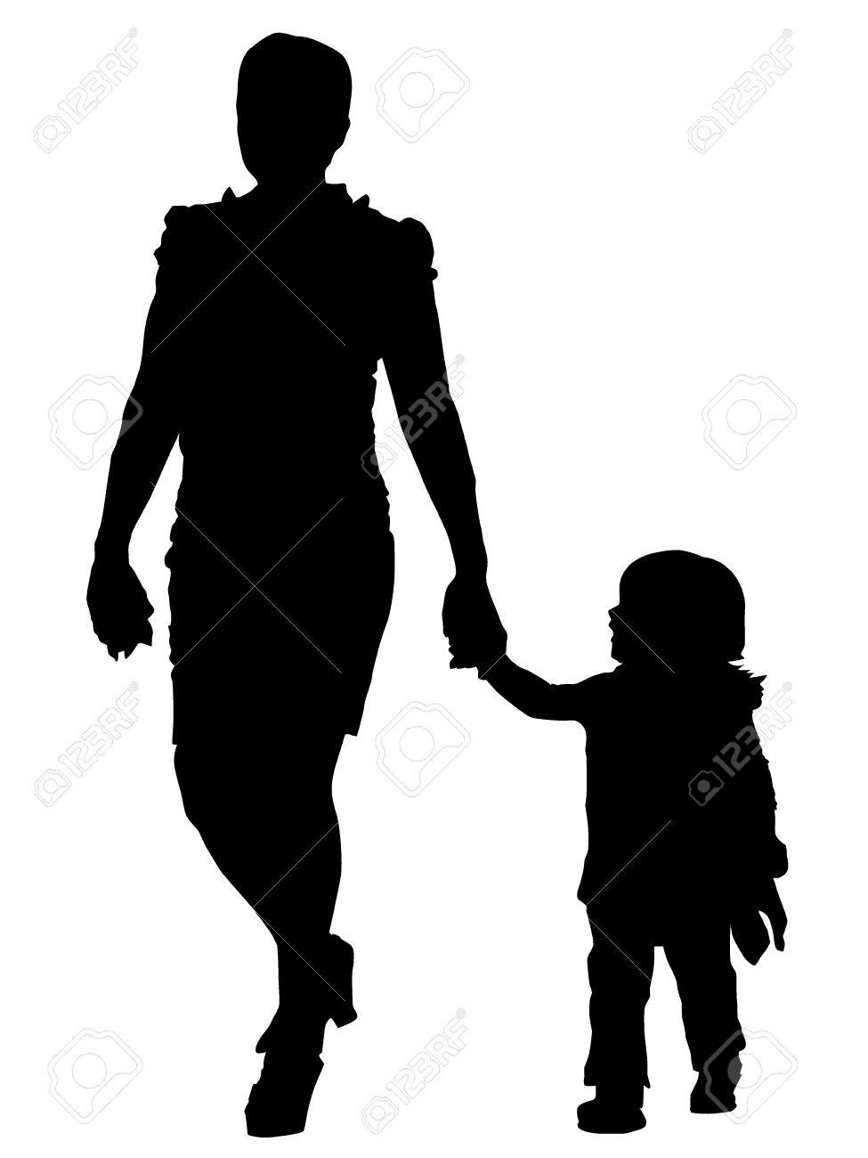 Child silhouette clip art. Children clipart shadow