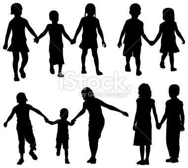 best silhouettes images. Children clipart shadow