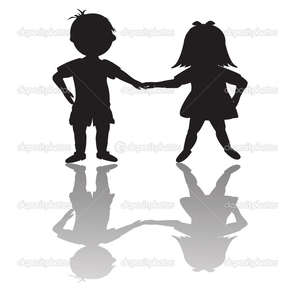 clipartlook. Children clipart shadow