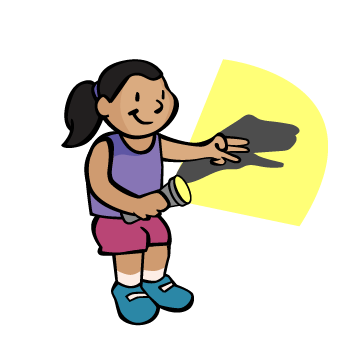 Children clipart shadow. Puppet play beyond the