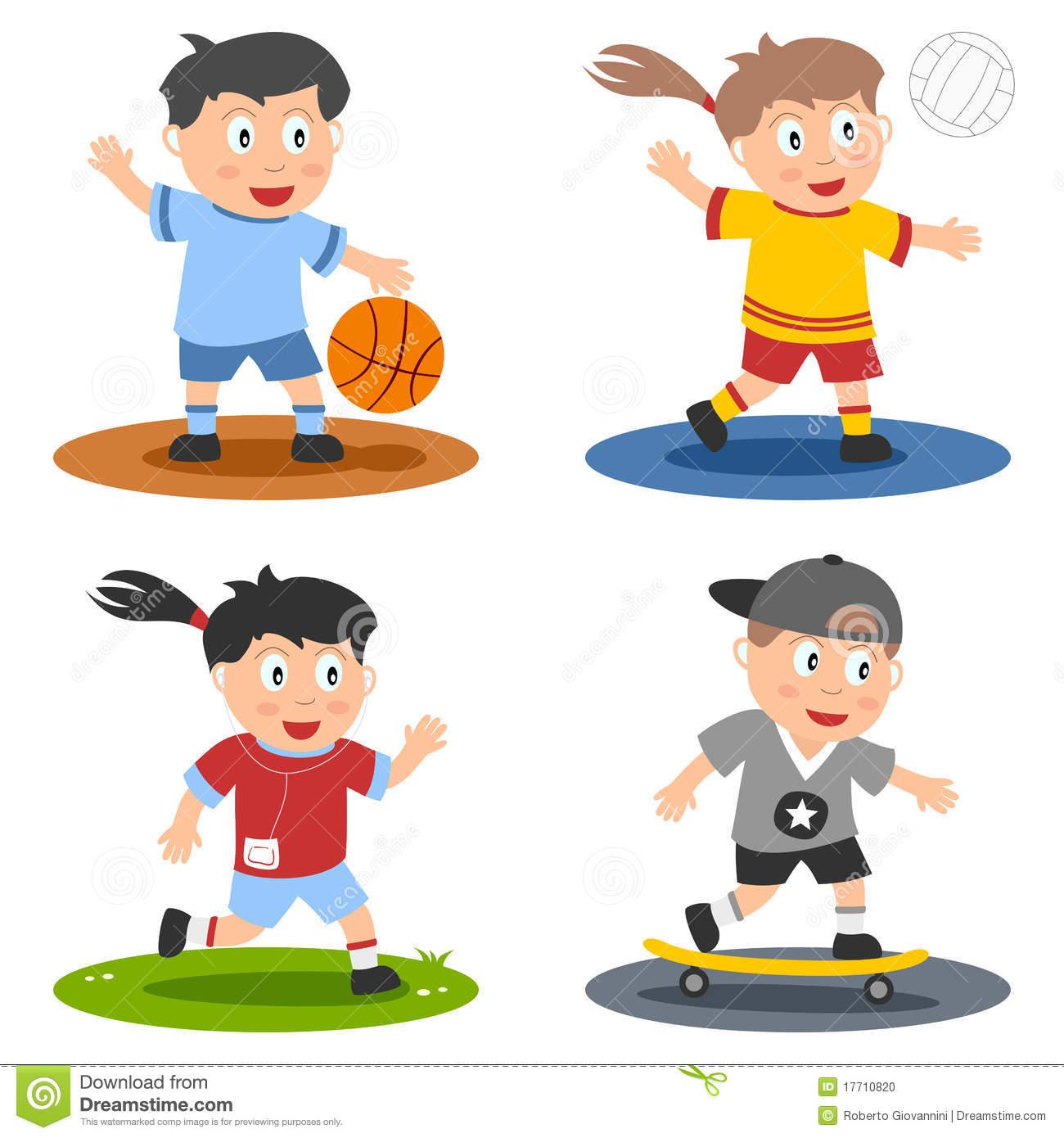 Children clipart sport. Station
