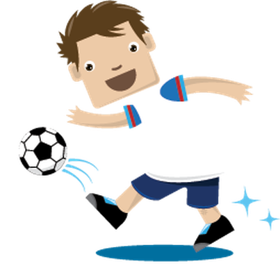 Children clipart sport. Playing sports soccer health