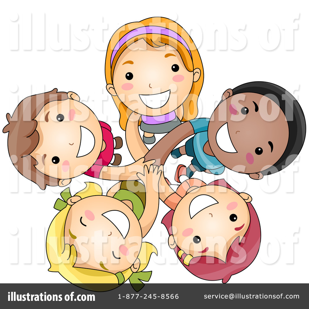 Clipart child teamwork. Illustration by bnp design