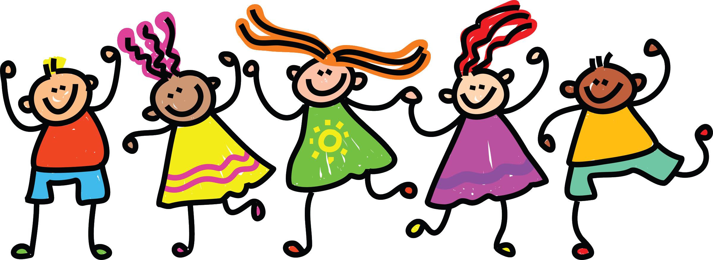 collection of child. Clipart friends transparent background