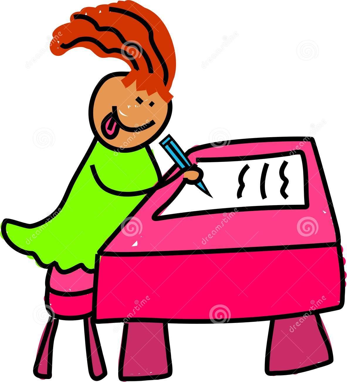 Free clip art children. Clipart writing children's