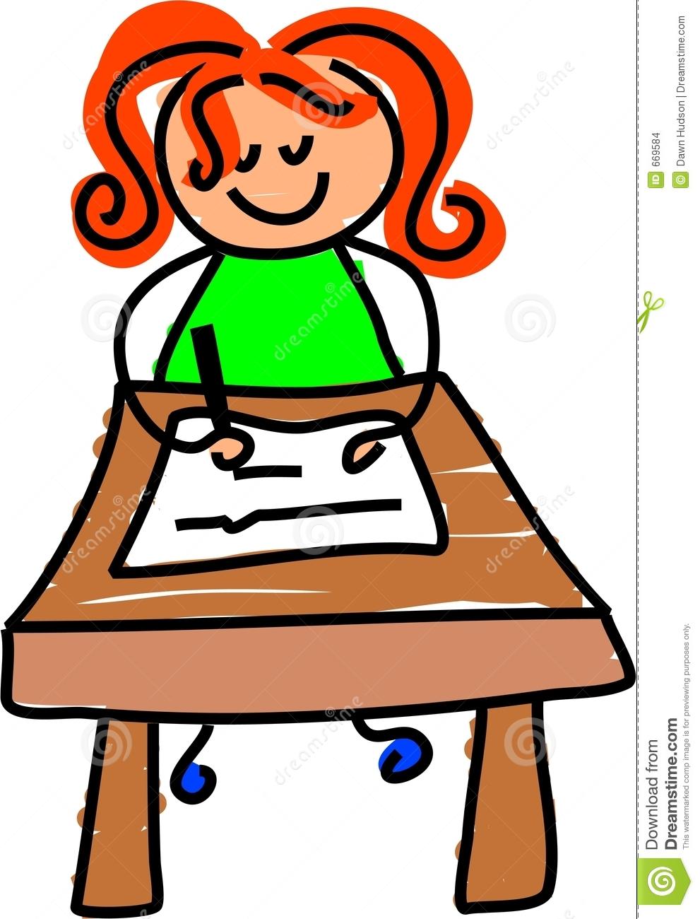 Writer clipart one student. Writing kid panda free