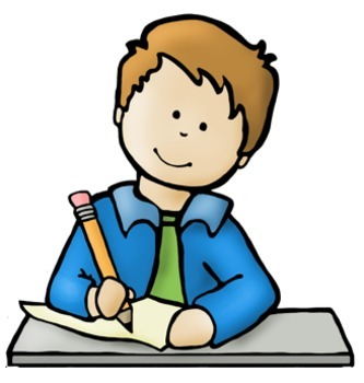 Clipart writing children's. Big kids and technology
