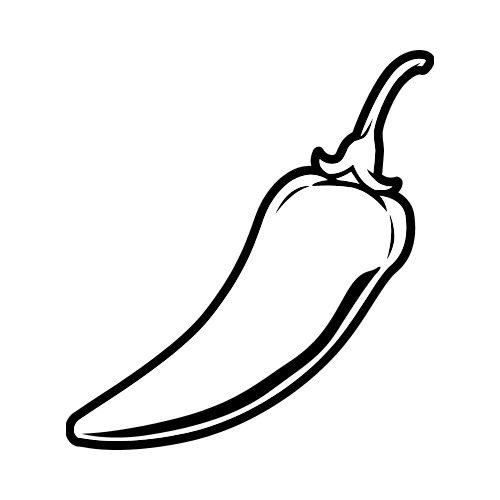 Chili clipart black and white. Pepper bw clip art