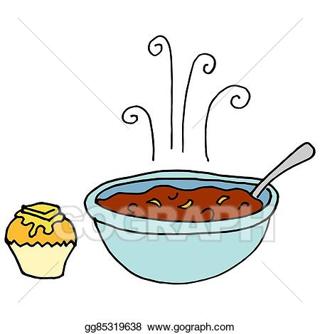 Eps vector of and. Chili clipart bowl chili
