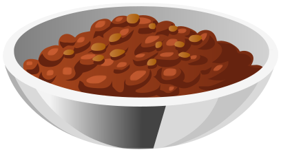 Chili clipart bowl chili. Food meals png html