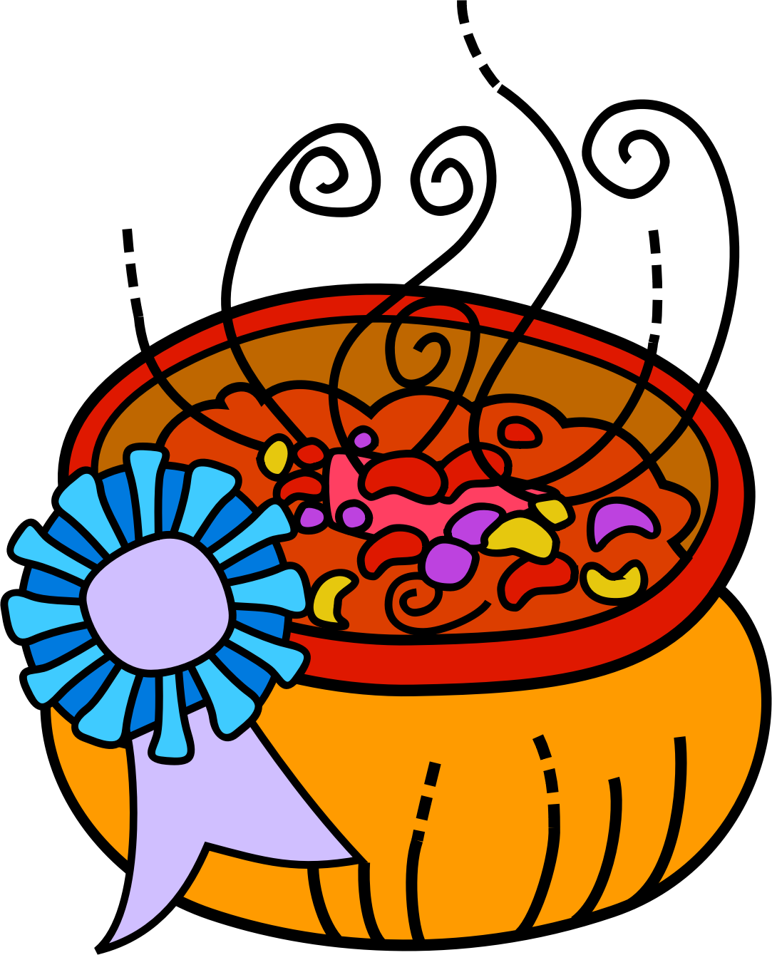 Prize winning chili big. Winter clipart soup