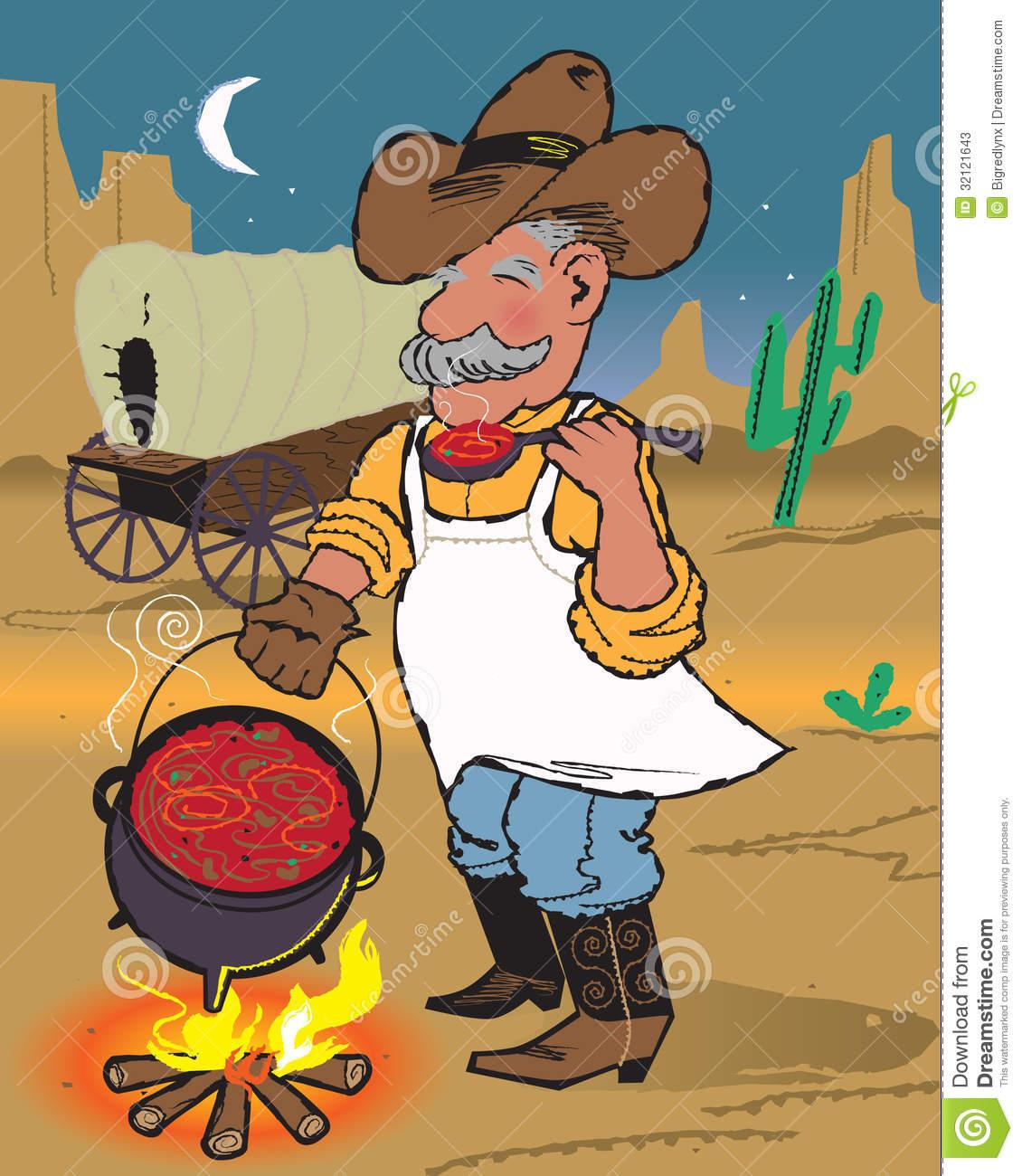 Eating . Chili clipart cowboy