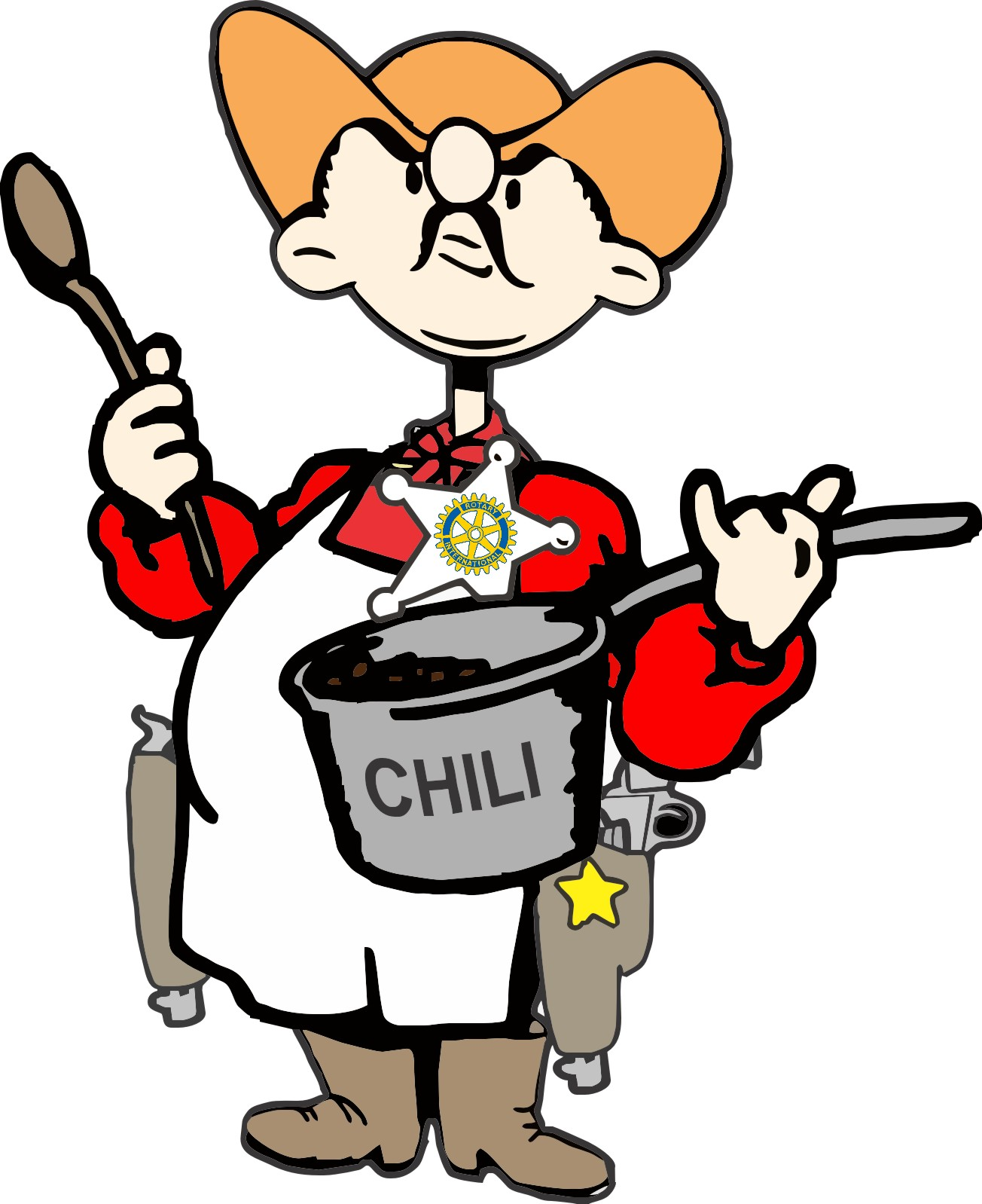 Chili clipart cowboy. Free cook off download