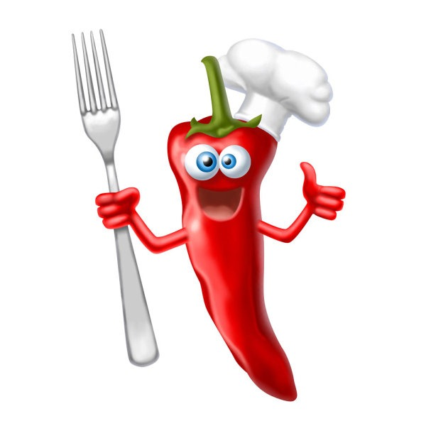 The image of chef. Chili clipart cute