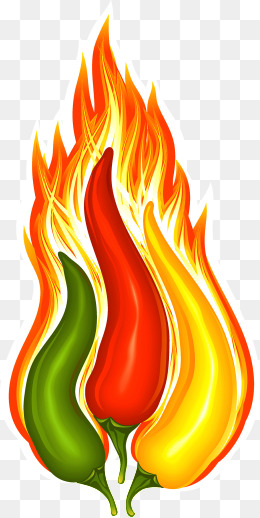Red png images vectors. Chili clipart fire