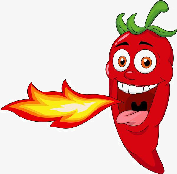 Cartoon material png image. Chili clipart fire