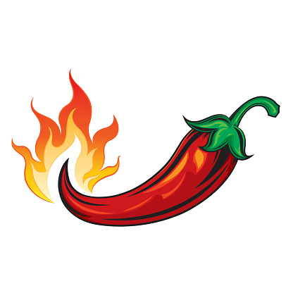Chili clipart fire. Hot pepper in the