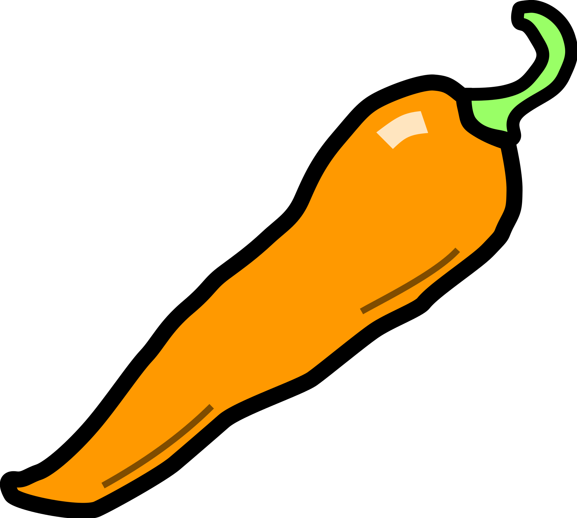 collection of orange. Peppers clipart cute