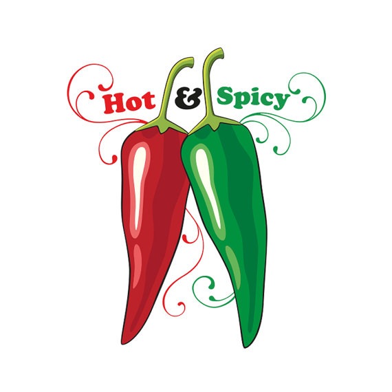 Hot and red green. Chili clipart spicy