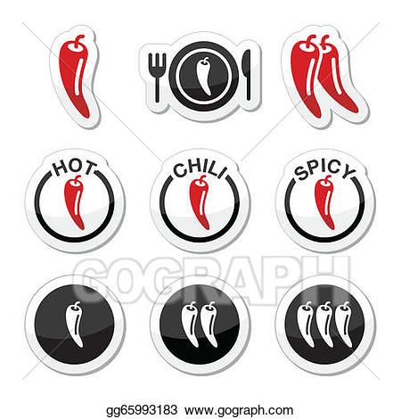 Chili clipart spicy food. Vector peppers hot and