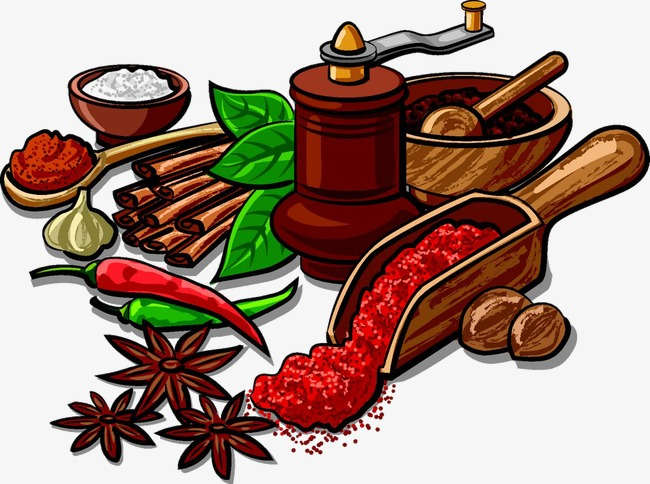 Chili clipart spicy food. Star anise and spices